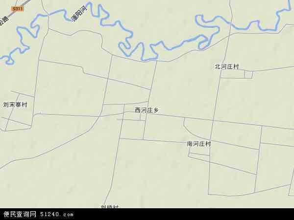 中国河北省邯郸市永年县西河庄乡地图(卫星地图)
