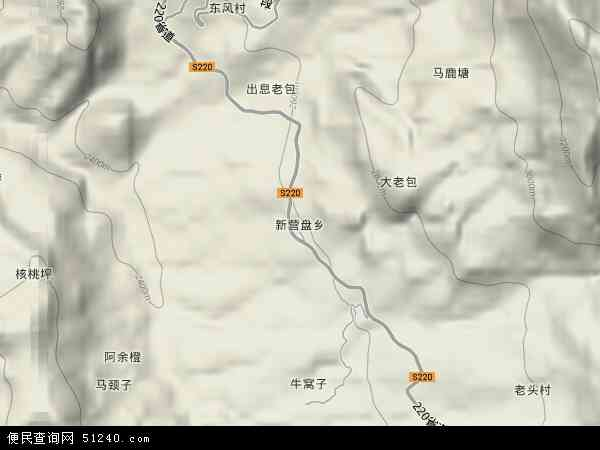 中国云南省丽江市宁蒗彝族自治县新营盘乡地图(卫星地图)