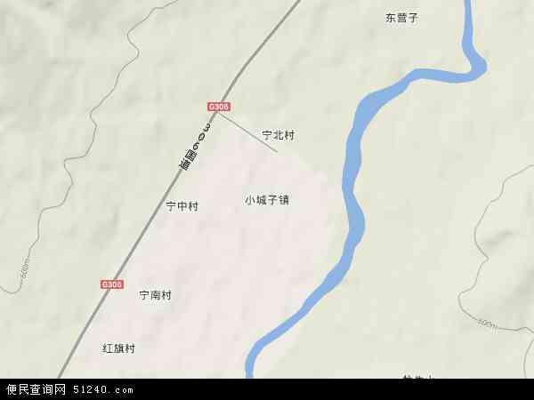 中国内蒙古自治区赤峰市宁城县小城子镇地图(卫星地图)