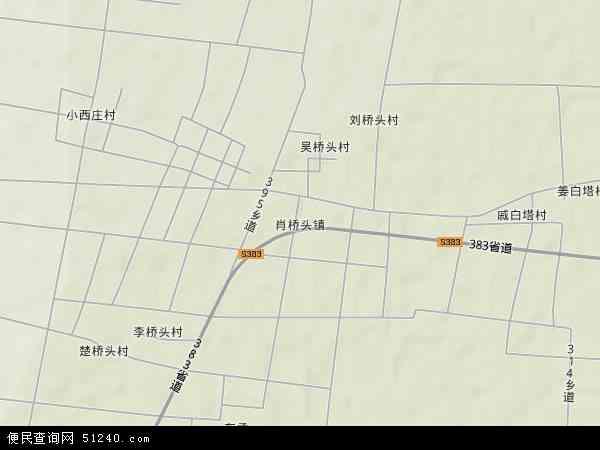 中国河北省衡水市武邑县肖桥头镇地图(卫星地图)