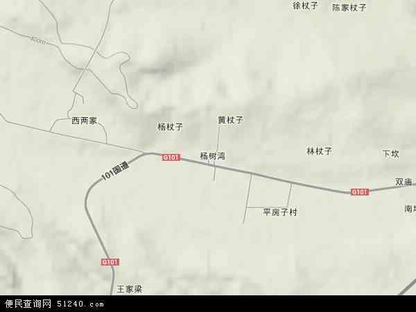 中国辽宁省朝阳市朝阳县杨树湾乡地图(卫星地图)