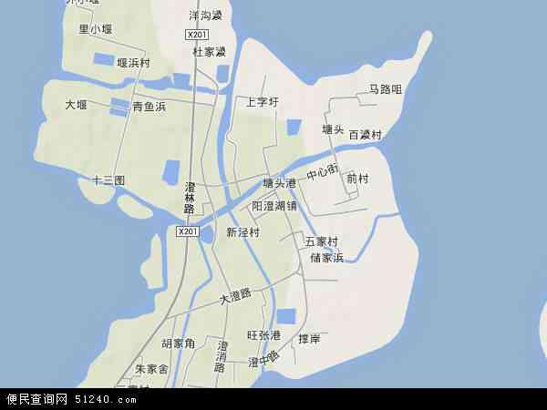 中国江苏省苏州市相城区阳澄湖镇地图(卫星地图)