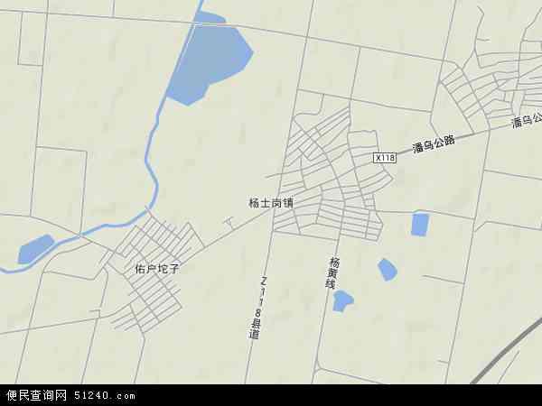 中国辽宁省沈阳市辽中县杨士岗镇地图(卫星地图)