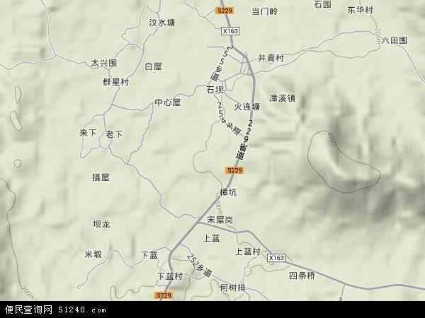 中国广东省河源市东源县漳溪乡地图(卫星地图)