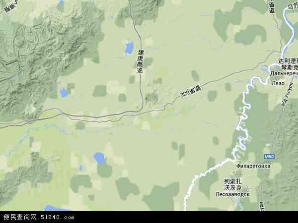 珍宝岛乡地图 - 珍宝岛乡卫星地图