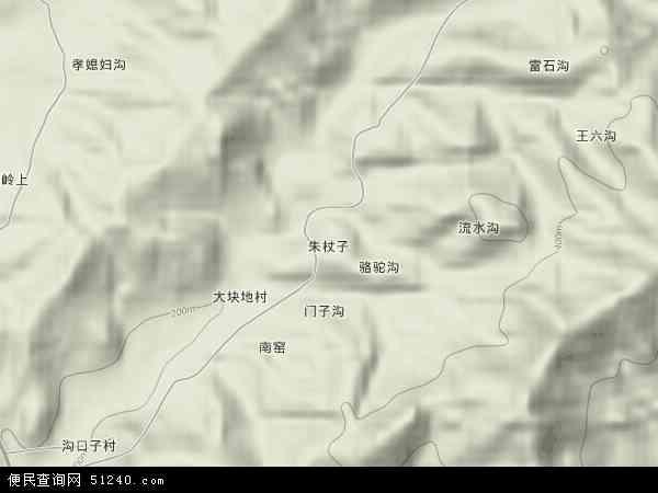 中国河北省秦皇岛市青龙满族自治县朱杖子乡地图