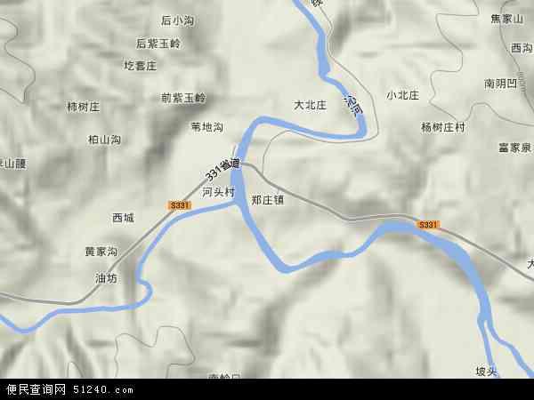中国山西省晋城市沁水县郑庄镇地图(卫星地图)