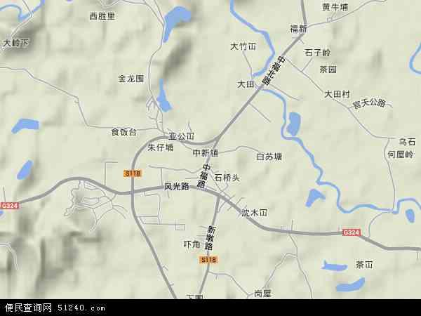广州市增城区地图全图展示