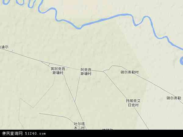 中国新疆维吾尔自治区阿克苏地区库车县阿克吾斯塘乡地图(卫星地图)