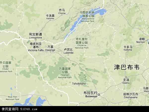 北马塔贝莱兰地图 - 北马塔贝莱兰卫星地图