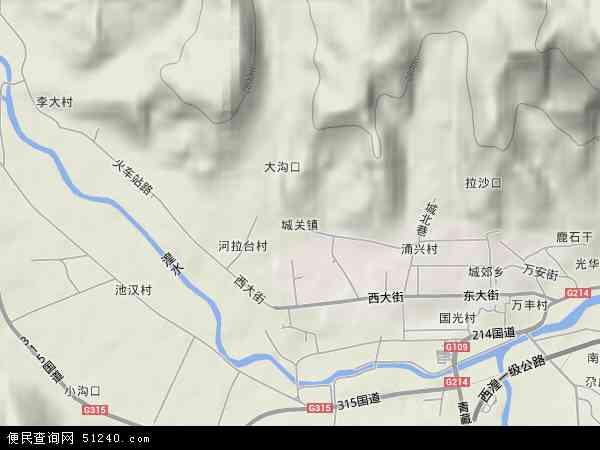城关镇高清卫星地图 城关镇2017年卫星地图 中国青海省西宁市湟源图片