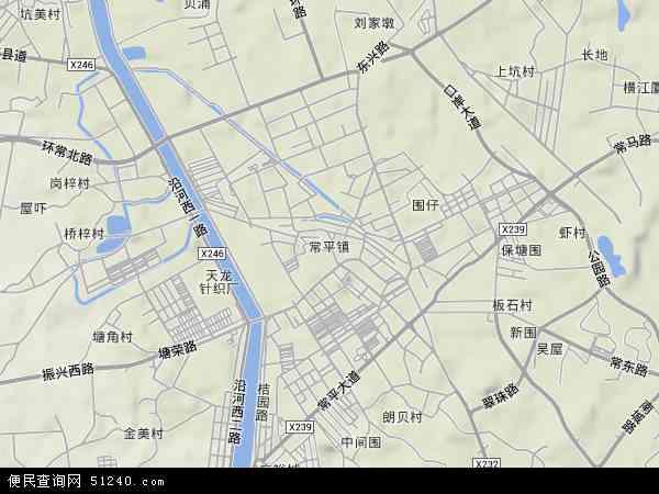 中国广东省东莞市常平镇地图(卫星地图)