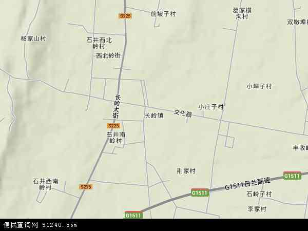 中国山东省日照市莒县长岭镇地图(卫星地图)