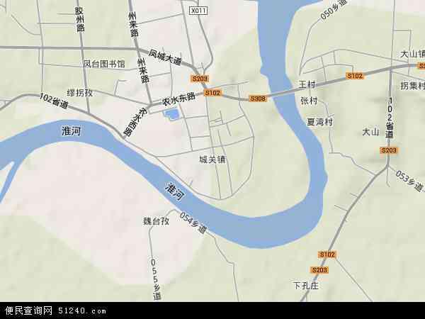 凤台县城关镇_城关镇地图 - 城关镇卫星地图 - 城关镇高清航拍地图