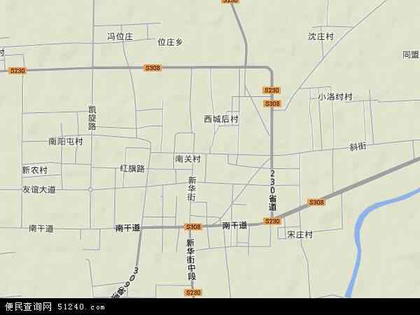 中国河南省新乡市获嘉县城关镇地图(卫星地图)
