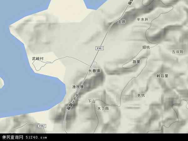中国福建省宁德市霞浦县长春镇地图(卫星地图)