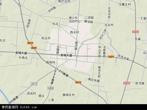中国河南省开封市杞县城关镇地图(卫星地图)图片
