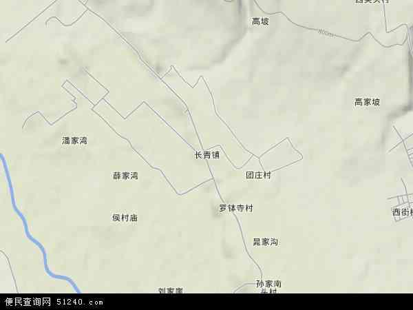中国陕西省宝鸡市凤翔县长青镇地图(卫星地图)