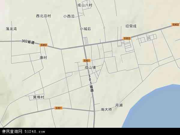 中国山东省威海市荣成市成山镇地图(卫星地图)
