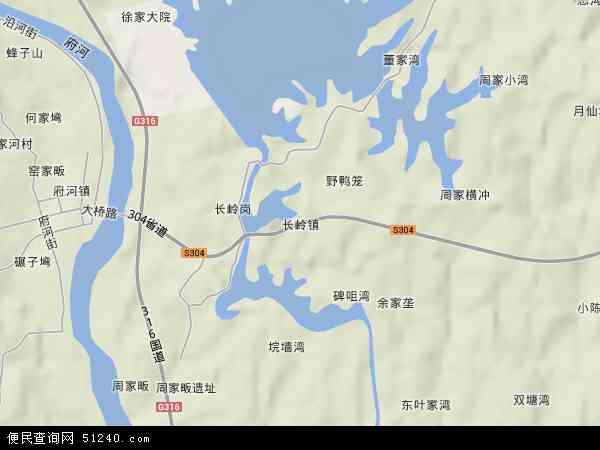 中国湖北省随州市广水市长岭镇地图(卫星地图)图片
