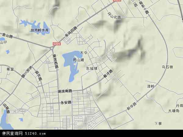 东城镇高清卫星地图 东城镇2018年卫星地图 中国广东省阳江市阳东