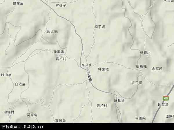 东兴乡地图 - 东兴乡卫星地图