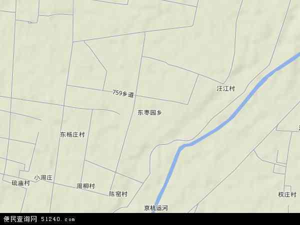 中国河北省邢台市临西县东枣园乡地图(卫星地图)