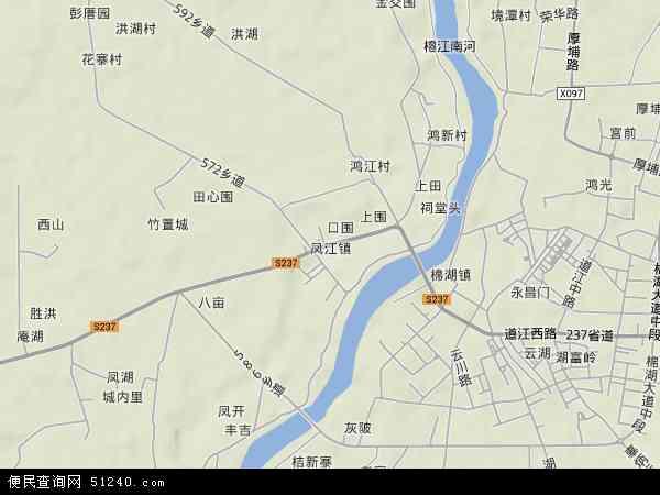 中国广东省揭阳市揭西县凤江镇地图(卫星地图)