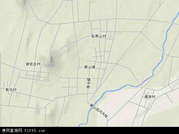 中国山东省临沂市罗庄区黄山镇地图(卫星地图)