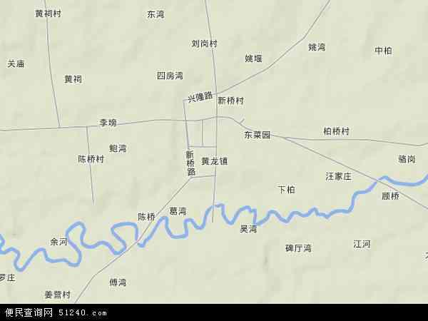 中国湖北省襄阳市襄州区黄龙镇地图(卫星地图)