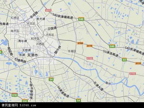 中国天津市东丽区航空新城地图(卫星地图)