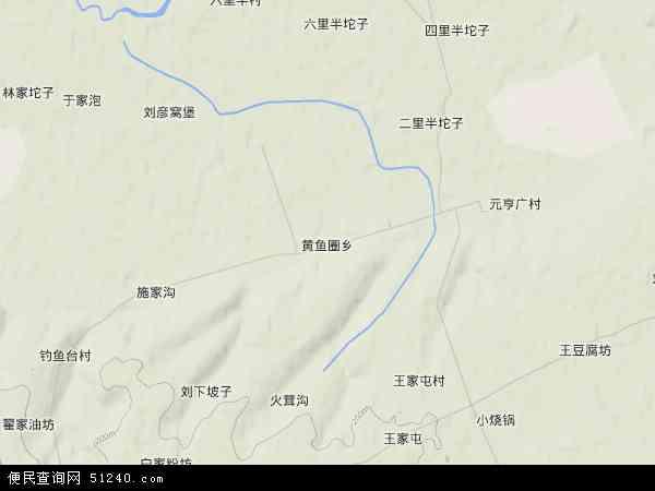 中国吉林省长春市农安县黄鱼圈乡地图(卫星地图)