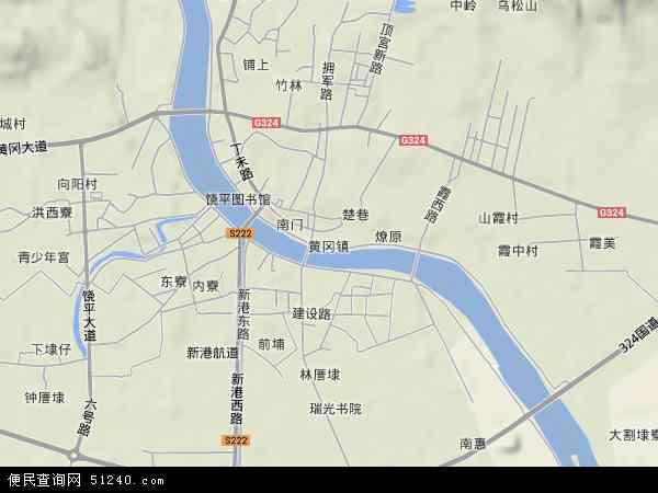 黄冈镇2017年卫星地图 中国广东省潮州市饶平县黄冈镇地图