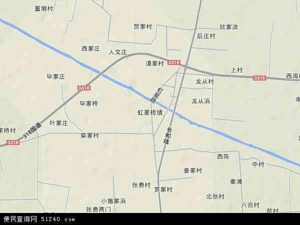 中国浙江省湖州市长兴县虹星桥镇地图(卫星地图)