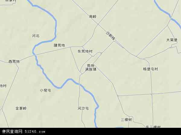 中国辽宁省葫芦岛市绥中县荒地满族镇地图(卫星地图)