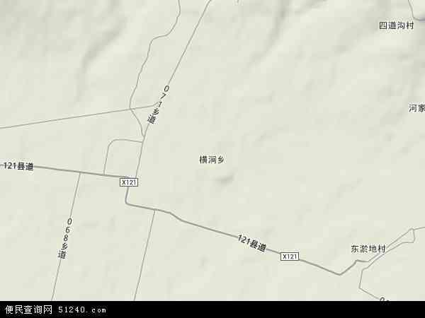中国山西省忻州市繁峙县横涧乡地图(卫星地图)图片