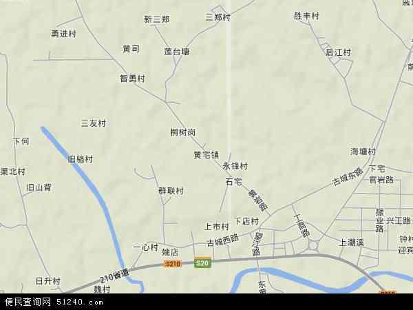 中国浙江省金华市浦江县黄宅镇地图(卫星地图)