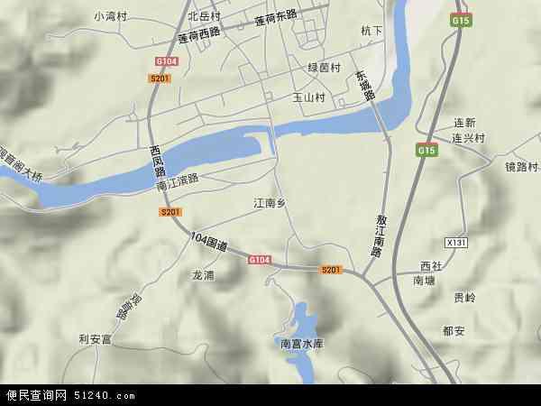 中国福建省福州市连江县江南乡地图(卫星地图)
