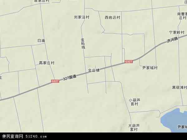 金庄镇2017年卫星地图 中国山东省济宁市泗水县金庄镇地图