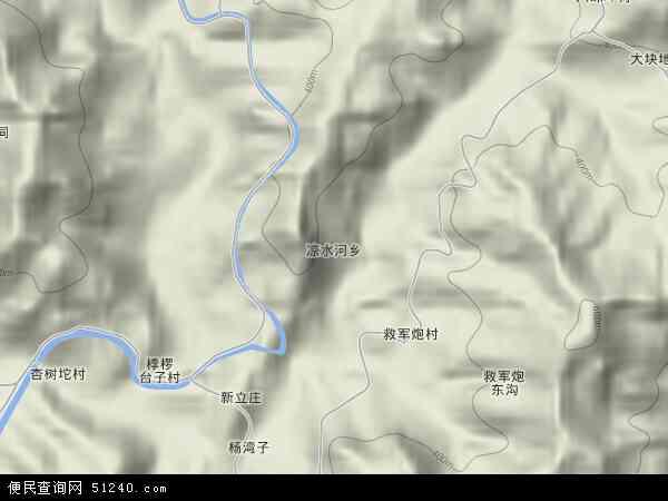 中国河北省秦皇岛市青龙满族自治县凉水河乡地图(卫星地图)