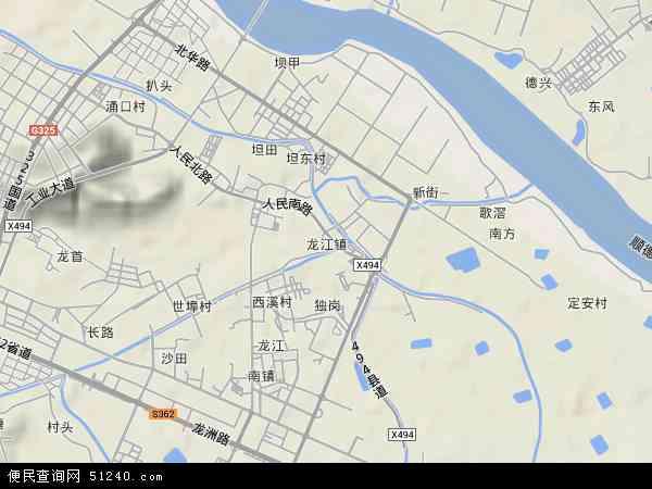 龙江镇地图 - 龙江镇卫星地图