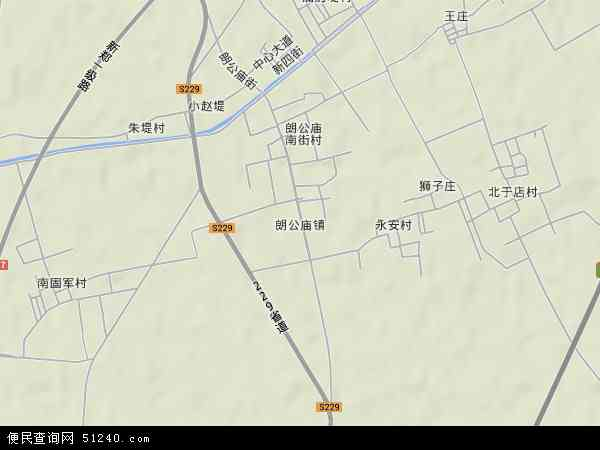 中国河南省新乡市新乡县朗公庙镇地图(卫星地图)