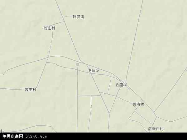 中国河南省新乡市封丘县李庄乡地图(卫星地图)