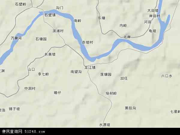 中国海南省省直辖县级行政区划琼海市龙江镇地图(卫星地图)