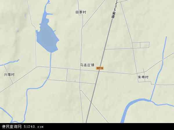 中国山东省青岛市莱西市马连庄镇地图(卫星地图)
