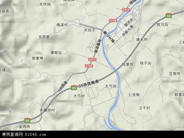 蒙顶山镇高清卫星地图 蒙顶山镇2017年卫星地图 中国四川省雅安市