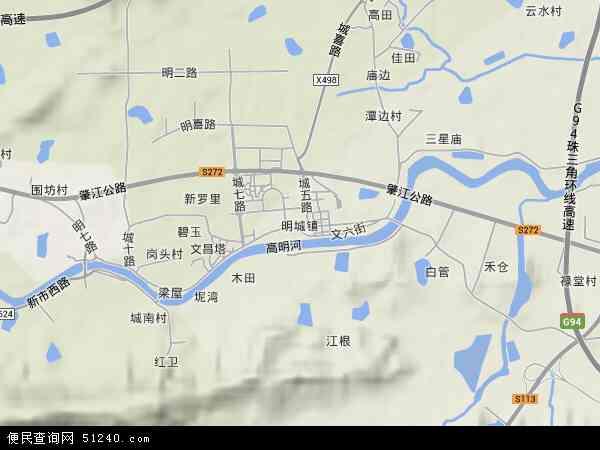 高明地图_广东佛山高明地图图片