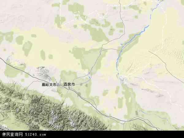中国甘肃省酒泉市金塔县农林场站地图(卫星地图)
