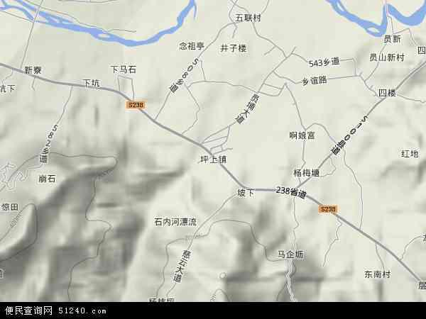 中国广东省揭阳市揭西县坪上镇地图(卫星地图)图片