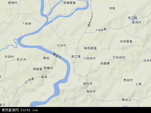 中国重庆市荣昌县清江镇地图(卫星地图)